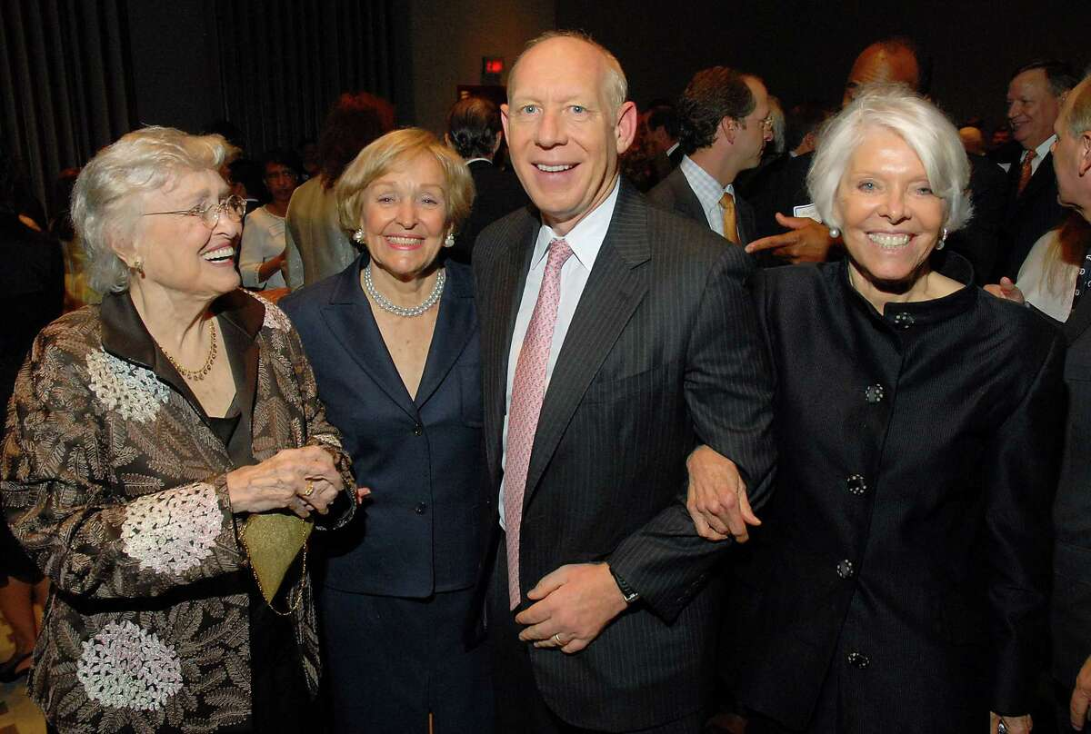 Maconda Brown O'Connor, left, Isabel Brown Wilson, Mayor Bill White and Nancy Brown Negley at the City of Houston's Birthday Bash at the George R. Brown Convention Center in 2008.
