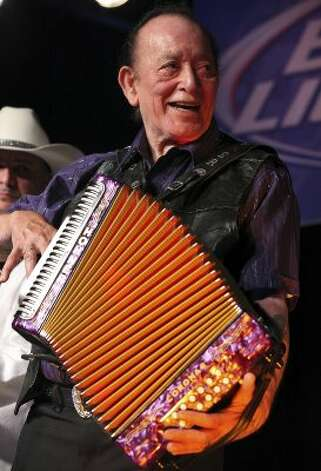 Flaco Jimenez performs during the Tejano Conjunto Festival Sunday, May 20, 2012, at Rosedale Park. (Edward A. Ornelas / San Antonio Express-News)