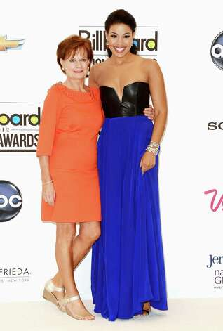 LAS VEGAS, NV - MAY 20:  Pam Weidmann and singer Jordin Sparks pose in the press room at the 2012 Billboard Music Awards held at the MGM Grand Garden Arena on May 20, 2012 in Las Vegas, Nevada. Photo: Frazer Harrison, Getty Images For ABC / 2012 Getty Images
