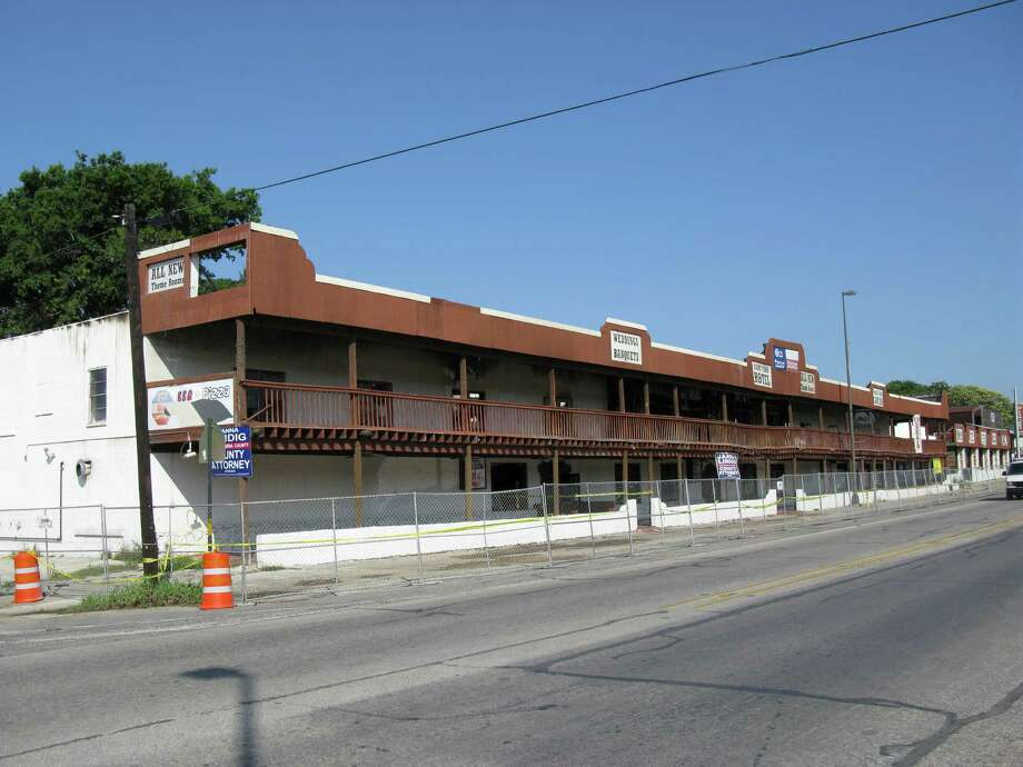 The Former Frontier Hotel And Purple Cow Saloon On Main Street In Bandera Which Was