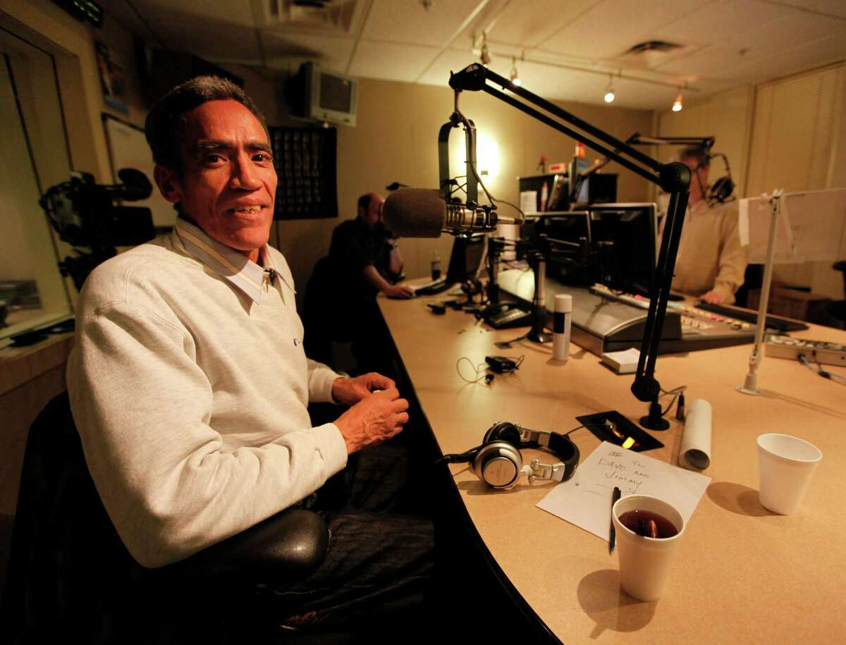 Ted Williams, a homeless man whose golden voice captured America's hearts overnight, had his coming-out party, Wednesday, January 5, 2011, on the Morning Zoo program at WNCI (97.9 FM) in Columbus, Ohio. (Doral Chenoweth III/Columbus Dispatch/MCT)