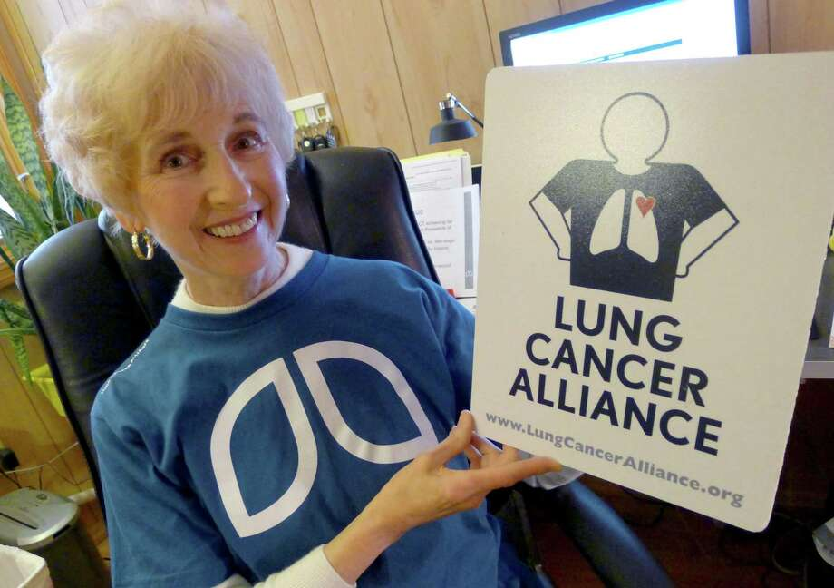 Phyllis Goldstein  director of the local chapter of The Lung Cancer Alliance in Albany N.Y. Thursday April 26, 2012. (Michael P. Farrell/Times Union) Photo: Michael P. Farrell / 10017433A