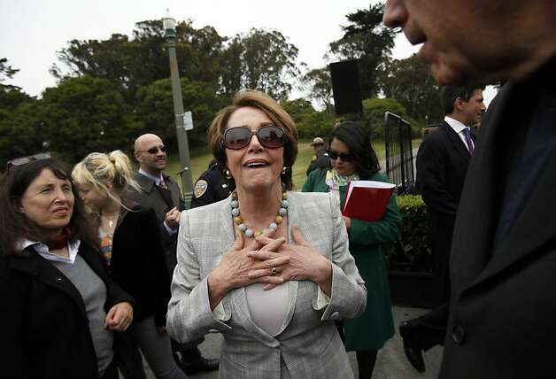 Representative Nancy Pelosi greets supporters before a ceremony renaming Middle Drive East in her honor in Golden Gate Park in San Francisco, Calif., Monday, May 21, 2012.  Now called Nancy Pelosi Drive, the road connects John F. Kennedy Jr. Drive with Martin Luther King Jr. Drive. Photo: Sarah Rice, Special To The Chronicle