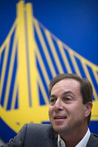 Owner Joe Lacob(pictured) and team President and CEO Rick Welts announced that the Golden State Warriors are officially moving to San Francisco.  The team will be housed in a new facility on piers 30-32 on the Embarcadero.  Oakland, CA on Monday May 21st, 2012 Photo: Michael Short, Special To The Chronicle