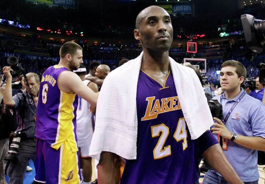 Los Angeles Lakers guard Kobe Bryant leaves the floor after the Oklahoma City Thunder defeated the Lakers 106-90 in Game 5 in their NBA basketball Western Conference semifinal playoff series, Monday, May 21, 2012, in Oklahoma City. (AP Photo/Sue Ogrocki) Photo: Sue Ogrocki, Associated Press / AP