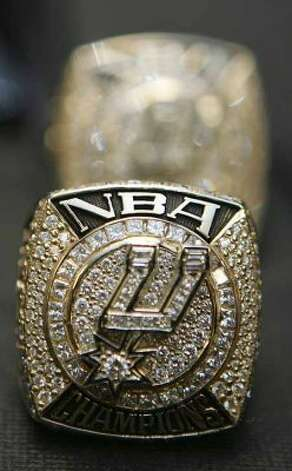SPORTS - The Spurs 2007 Championship rings are displayed Tuesday, October 30, 2007 at the AT&T Center prior to the start of the season opener against Portland. Spurs players and staff received their rings during a pre-game ceremony. BAHRAM MARK SOBHANI/STAFF (SAN ANTONIO EXPRESS NEWS)