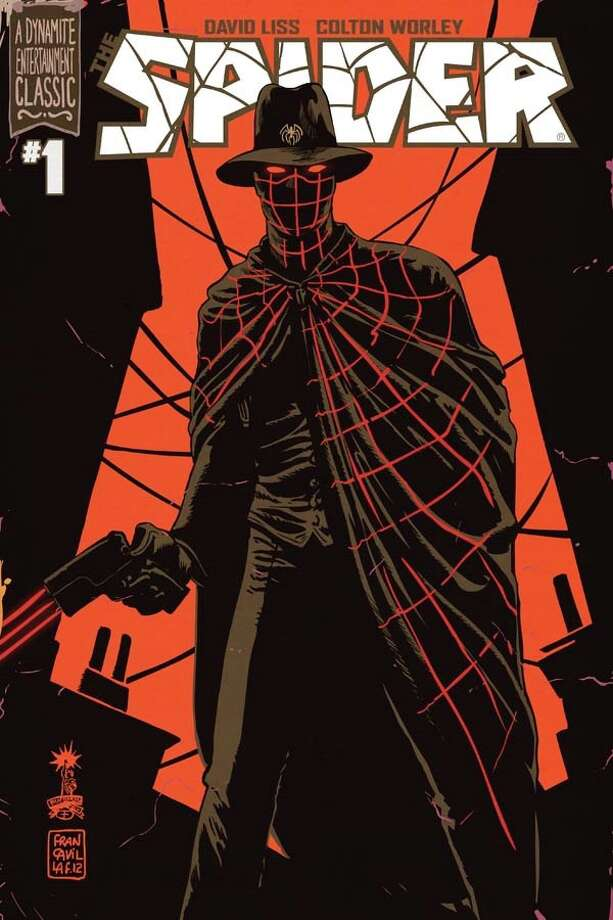 "Cover to ""The Spider"" No. 1, written by San Antonio novelist David Liss with interior art by Colton Worley. The Spider is a pulp vigilante from the 1930s. Liss brings him to the present in the new comic series by Dynamite Entertainment. Cover art by Francesco Francavilla."