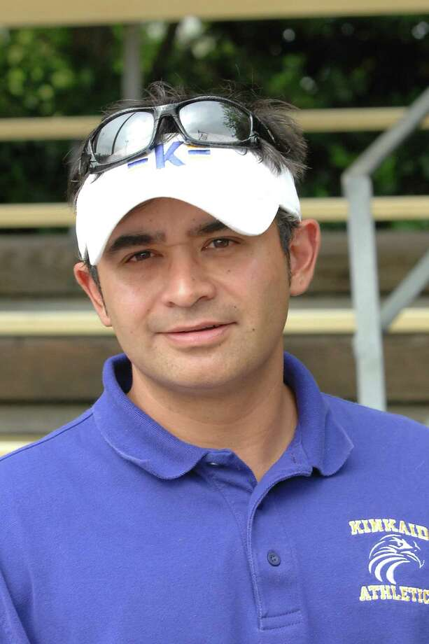 Kinkaid and Episcopal High Schools met at The Lee LeClear Tennis Center for a district match. 77277, 77036. Kinkaid varsity boys and girls tennis coach Josh Rodriguez.  Photo Eddy Matchette Photo: Eddy Matchette / freelance
