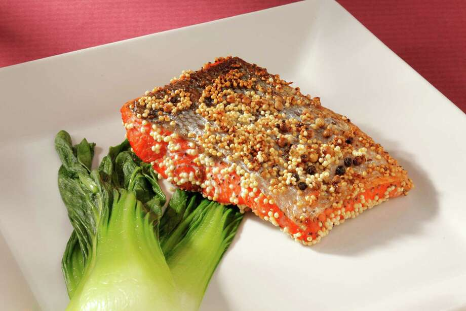 Spiced Millet-Coated Salmon (from Hiroko Nagano) as seen in San Francisco, California on Wednesday, May 2, 2012. Food styled by Janny Hu. Photo: Craig Lee / ONLINE_YES