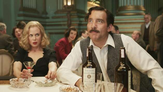 "Nicole Kidman and Clive Owen star in the  HBO film, ""Hemingway and Gelhorn,"" which was directed by Phil Kaufman.  The Green room in Herbst Theater was used for this scene. Photo: HBO"