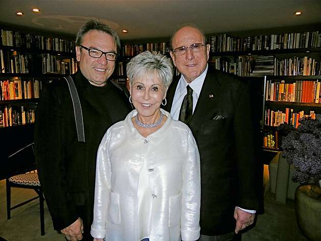 Stanlee Gatti (left) Jo Schuman Silver and her cousin, Clive Davis. May 2012. By Catherine Bigelow. Photo: Catherine Bigelow, Special To The Chronicle