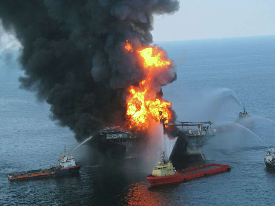 It is still unclear whether or not marine and coastal ecosystems in the Gulf of Mexico are healthy two years after BPís offshore drilling rig exploded 40 miles off the Louisiana coast, eventually releasing 205.8 million gallons of oil into the water column. Photo courtesy of the U.S. Coast Guard Photo: Contributed Photo