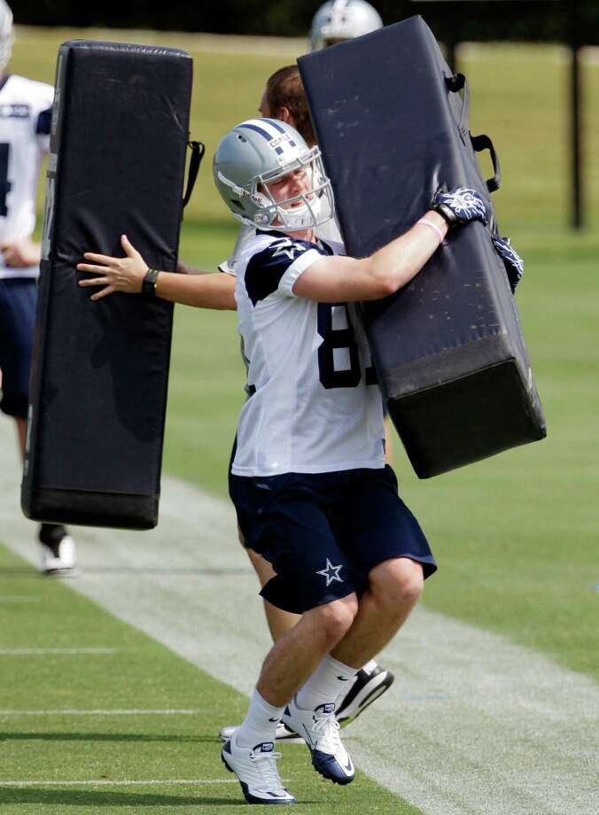 Dallas wide receiver Danny Coale runs drills during Cowboys rookie camp on May 4, in Irving. Photo: AP