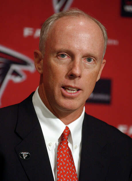Rich McKay speaks at a news conference during which he was introduced as the new general manager of the Atlanta Falcons, Monday, Dec. 15, 2003, at the team's practice complex in Flowery Branch, Ga. The move comes four days after the Super Bowl champion Tampa Bay Buccaneers released McKay from his contract. (AP Photo/Erik S. Lesser) Photo: ERIK S. LESSER / AP