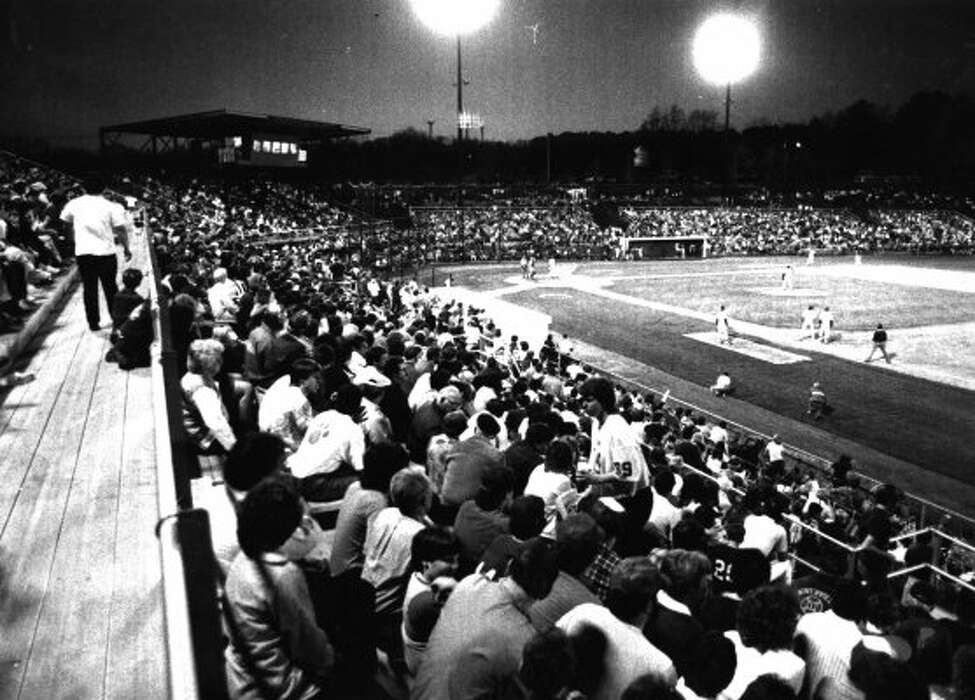 Opening day for the Albany-Colonie Yankees at Heritage Park on April 20, 1987.