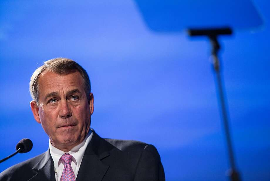 "WASHINGTON, DC - MAY 15: House Speaker John Boehner (R-OH) speaks at the 2012 Fiscal Summit on May 15, 2012 in Washington, DC. The third annual summit, held by the Peter G. Peterson Foundation, explored the theme ""America's Case for Action."" (Photo by Brendan Hoffman/Getty Images) Photo: Brendan Hoffman, Getty Images"