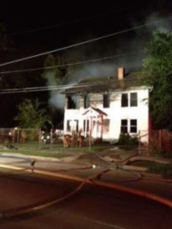 A fire in an abandoned home at 1785 Pennsylvania in Beaumont has been deemed arson. Photo provided by Beaumont Fire and Rescue.