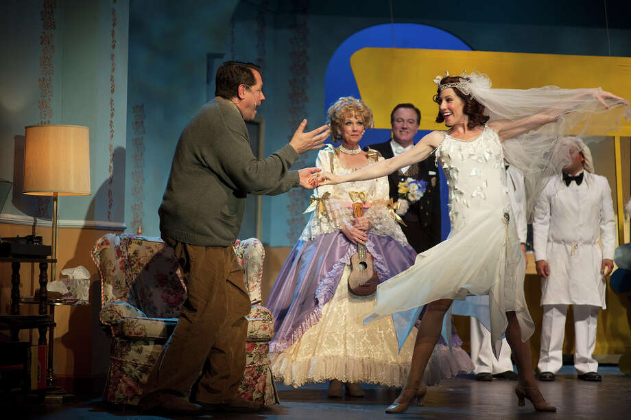 "Tim Hedgepeth and Paige Blend (front, as well as Sherry Gibbs Houston and Steven Bull) appear in the San Pedro Playhouse's ""The Drowsy Chaperone."" Courtesy Dwayne Green Photo: COURTESY DWAYNE GREEN"