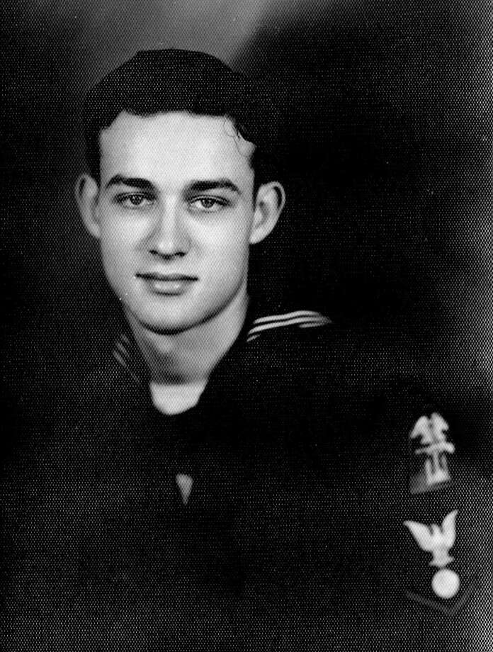 Greenwich resident David Nevin, an Army brat, chose to sign up with the Navy when he was 17 and served in the Pacific for the last two years of World War II. Nevin died earlier this year and was buried with full military honors at Arlington National Cemetery. Photo: Contributed Photo / Greenwich Citizen