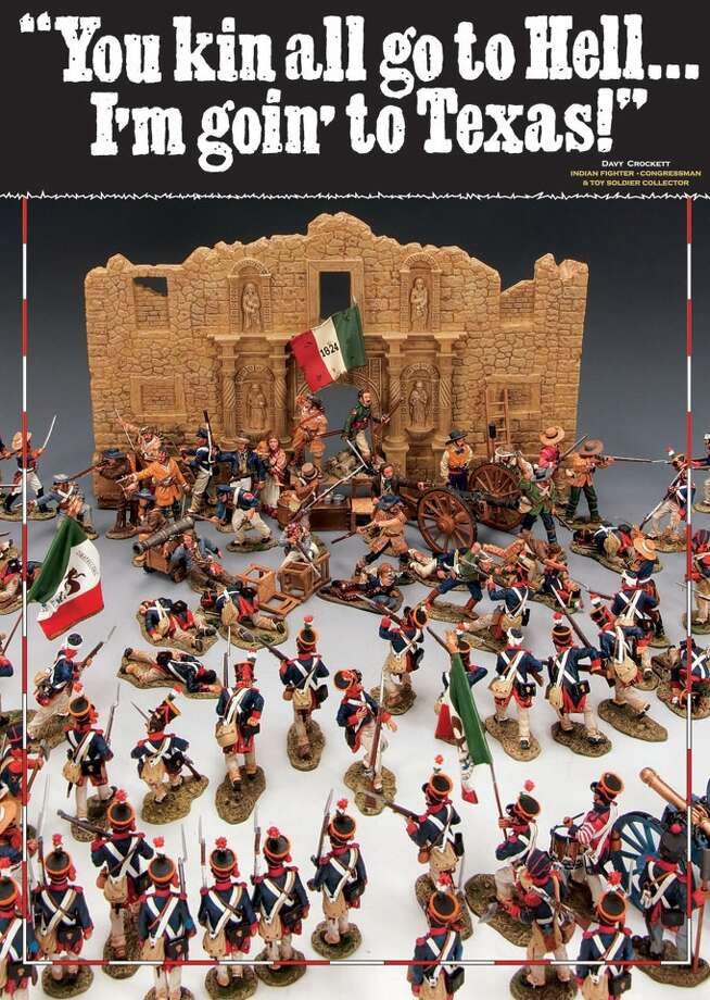 The battle of the Alamo in miniature. The Texas 2012 Toy Soldier Show features miniatures from around the world. It runs Saturday and Sunday in San Antonio. Photo: Kings X Toy Soldiers