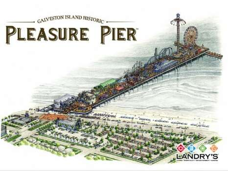 Rendering of the Pleasure Pier prior to its construction.(Landry\'s)
