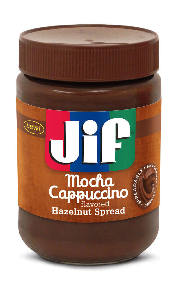 Peanut-butter maker Jif has moved beyond its basic spread and introduced two hazelnut spreads to its line — Jif Chocolate Flavored Hazelnut Spread and Jif Mocha Cappuccino Flavored Hazelnut Spread. Photo: Courtesy