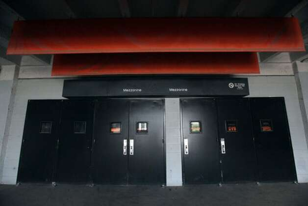 Doors closed shut, but a decision in regards to the future of the Astrodome is expected Wednesday, May 23, 2012. (Mayra Beltran / Houston Chronicle)
