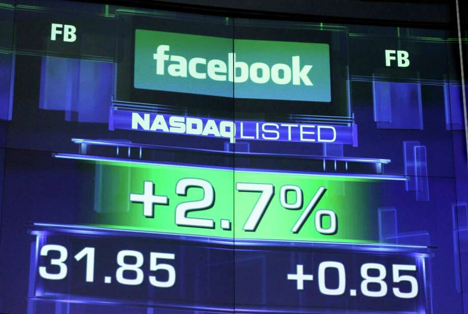 The pre-market price for Facebook stock is shown, Wednesday, May 23, 2012 at the Nasdaq MarketSite in New York. Facebook stock rose in early trading Wednesday, although still far below the $38 it was priced at before its initial public offering Friday. Photo: AP