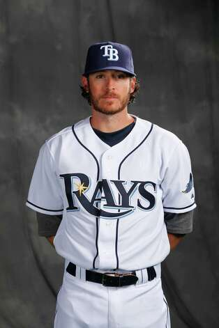 Tampa Bay Rays second baseman Will Rhymes is a former Lamar High School player. Photo: Tampa Bay Rays / Skip Milos Productions Inc.      smpphotography.com