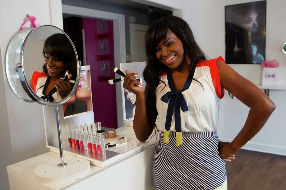 Makeup artist Kim Roxie, who has a studio on Westheimer and Greenbriar, will debut her LAMIK Beauty products at Macy's Pearland store and at macys.com. Photo: Brett Coomer / © 2012 Houston Chronicle