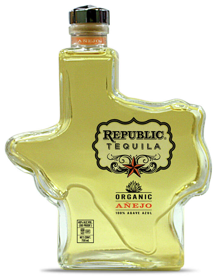 Though headquartered in Austin, Republic Tequila is distilled in Mexico. Their premium certified organic tequila is made with 100 percent blue agave and shipped in distinctive Texas-shaped bottles.  Recently, Republic has also branched out into making cocktail mixes. Photo: Republic Tequila