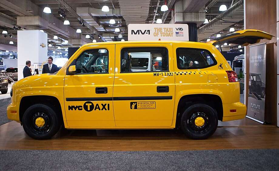 NEW YORK, NY - APRIL 05:  The MV-1, made by Vehicle Production Group (VPG) is introduced at the 2012 New York International Auto Show on April 5, 2012 in New York City. The wheelchair-friendly taxi requires no aftermarket work to admit wheelchair passengers, and meets all guidelines set by the Americans with Disabilities Act. The New York International Auto Show features nearly 1,000 brand new vehicles from all auto industry sectors and is open to the public April 6-15.  (Photo by Andrew Burton/Getty Images) Photo: Andrew Burton, Getty Images