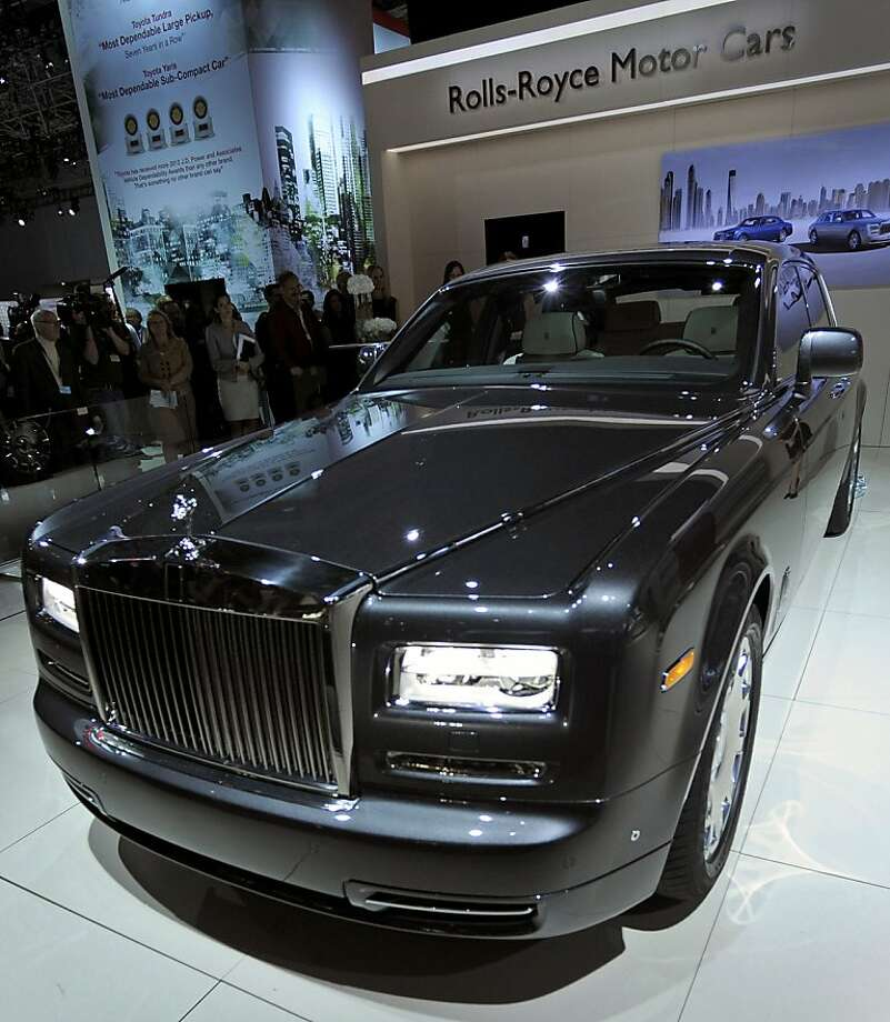 The Rolls-Royce Holdings Plc Phantom Series ll vehicle is displayed at the New York International Auto Show in New York, U.S., on Wednesday, April 4, 2012. The 2012 New York Auto Show is open to the public April 6-15. Photographer: Peter Foley/Bloomberg Photo: Peter Foley, Bloomberg