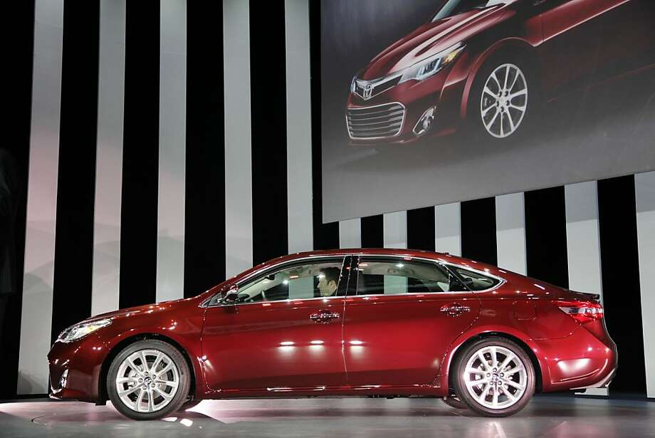 The 2013 Toyota Avalon is shown, Thursday, April 5, 2012 at the New York International Auto Show. (AP Photo/Mark Lennihan) Photo: Mark Lennihan, Associated Press