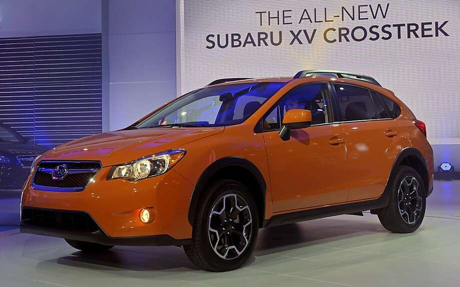 The new Fuji Heavy Industries Ltd.'s Subaru XV Crosstrek vehicle is unveiled at the New York International Auto Show in New York, U.S., on Thursday, April 5, 2012. The 2012 New York Auto Show is open to the public April 6-15. Photographer: Peter Foley/Bloomberg Photo: Peter Foley, Bloomberg