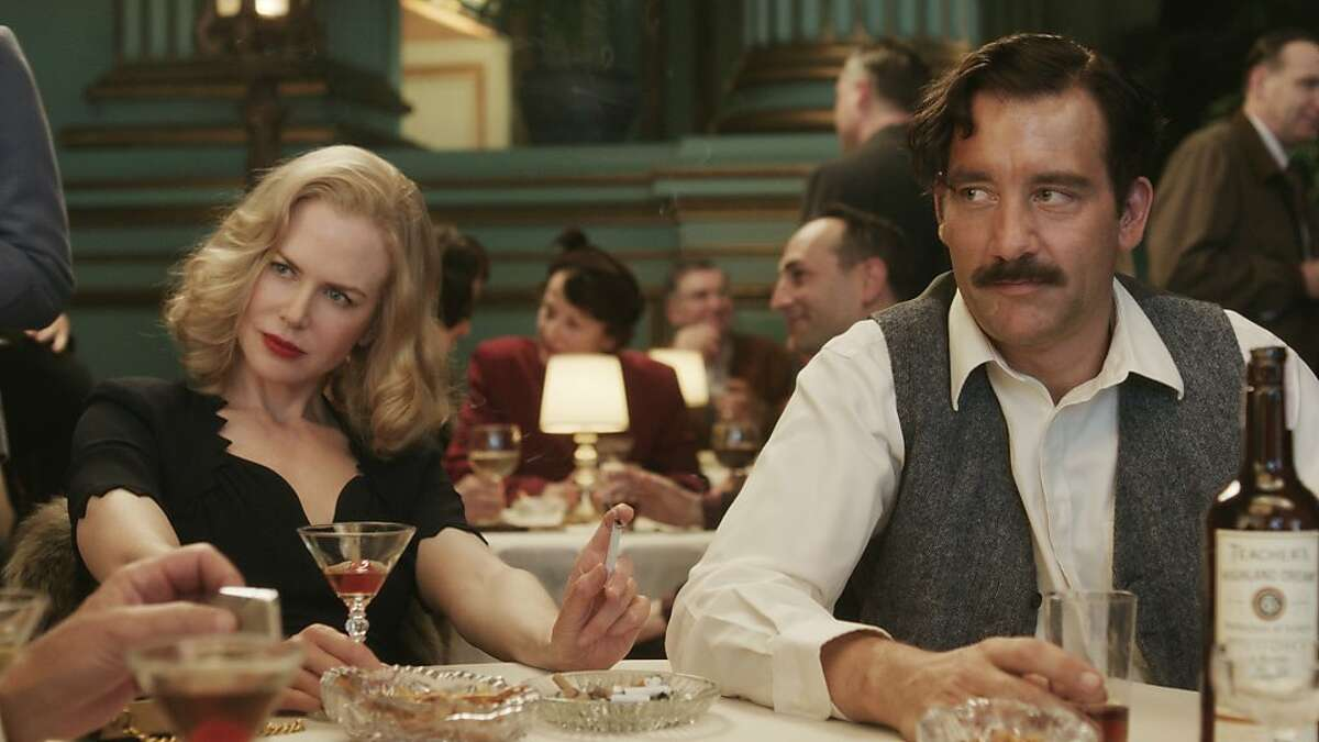 """Nicole Kidman and Clive Owen star in the HBO film, """"Hemingway and Gelhorn, """" which was directed by Phil Kaufman. The Green room in Herbst Theater was used for this scene."""