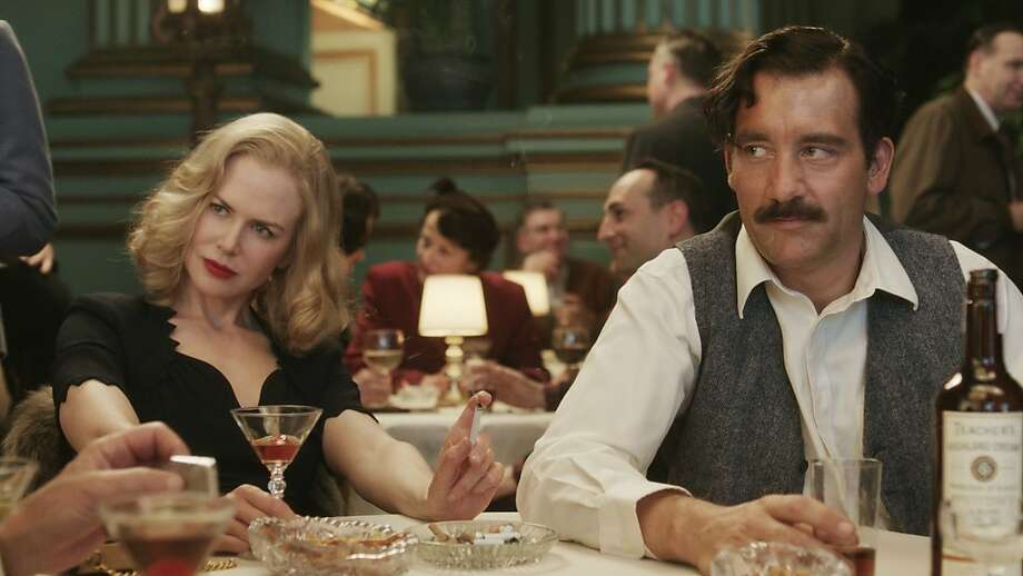 "Nicole Kidman and Clive Owen star in the HBO film, ""Hemingway and Gelhorn, "" which was directed by Phil Kaufman. The Green room in Herbst Theater was used for this scene. Photo: Hbo"