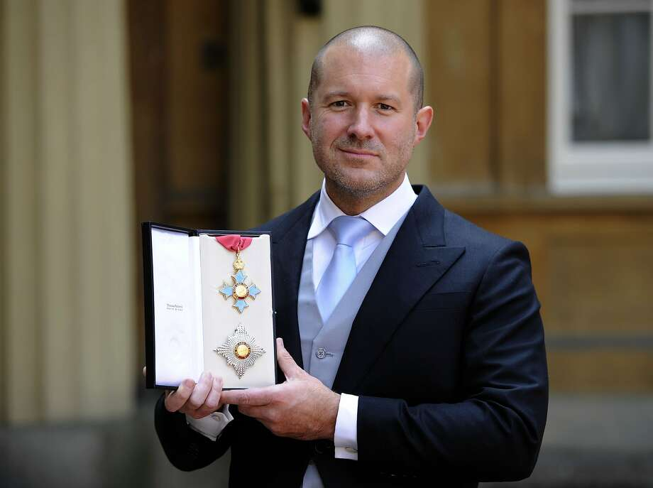 Sir Jonathan Ive, Senior Vice President, Industrial Design, Apple Inc with his  Knight Commander medal following an Investiture ceremony hosted by the Princess Royal, at Buckingham Palace, on May 23, 2012 in London . (Photo by Rebecca Naden - WPA Pool/Getty Images) Photo: WPA Pool, Getty Images