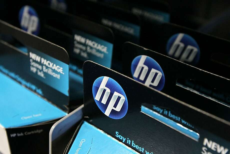 HP is eliminating positions across the company due to slower demand for printers, services and data-center equipment. Photo: Justin Sullivan, Getty Images