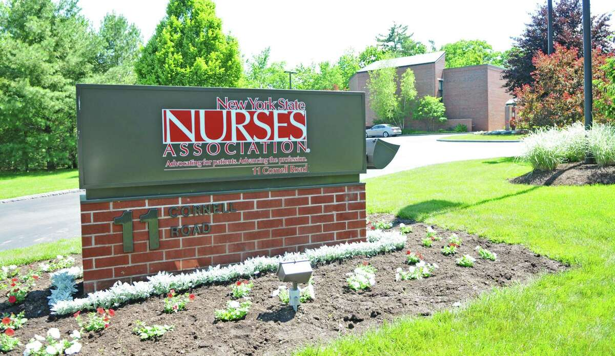 View of the New York State Nurses Association building on Wednesday May 23, 2012 in Latham, NY. (Philip Kamrass / Times Union )