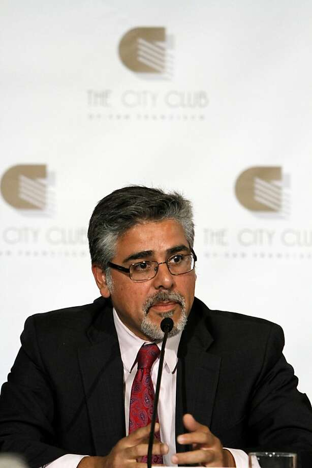 Mayoral candidate John Avalos answers a question during the mayoral debate at the City Club in San Francisco, Calif., Monday, October 10, 2011. Photo: Sarah Rice, Special To The Chronicle