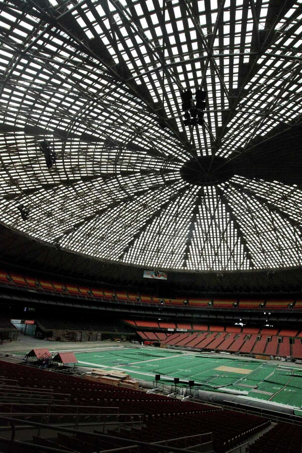 The Astrodome project calls for stripping out the seats and installing a floor at street level.