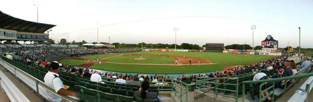 The San Antonio Missions host the Springfield Cardinals in Texas League action at Wolff Stadium in this panoramic photo composed from several exposures on Wednesday, May 23, 2012. Photo: Billy Calzada, Express-News / © 2012 San Antonio Express-News