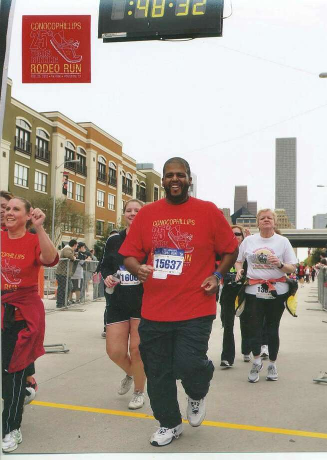 H-E-B employee James Bonner is one of 3,000 employees who race in the Cap 10K. His weight  is down to about 280 pounds, thanks to his diet and exercise regime supported by the company.