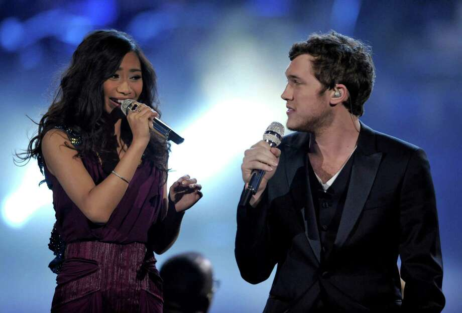 "Finalists Jessica Sanchez, left, and Phillip Phillips perform onstage at the ""American Idol"" finale on Wednesday, May 23, 2012 in Los Angeles. Photo: JOHN SHEARER/INVISION/AP"