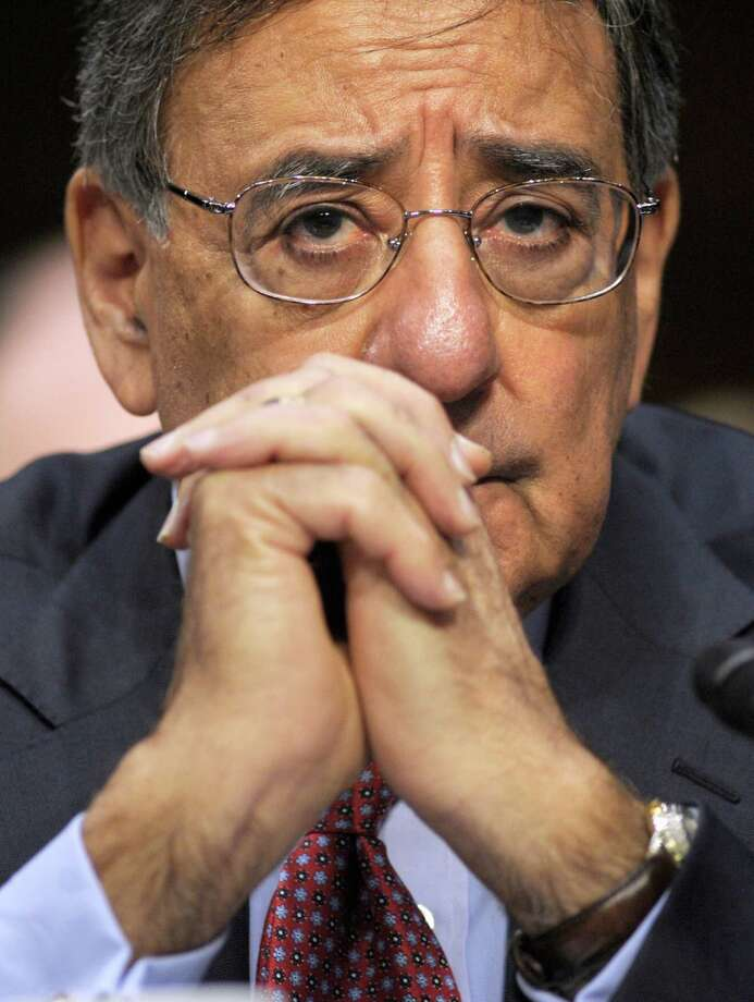 Defense Secretry Leon Panetta testifies on Capitol Hill in Washington, Wednesday, May 23, 2012, before the Senate Foreign Relations Committee hearing on the Law of the Sea Convention. (AP Photo/Cliff Owen) Photo: Cliff Owen