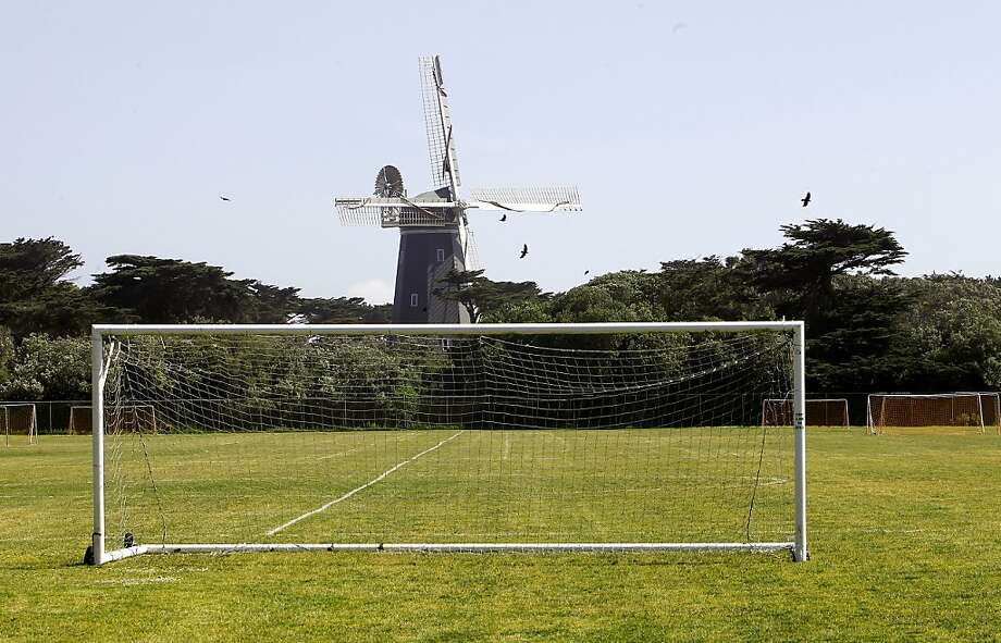 The Beach Chalet soccer field: Is it beauty or blight? Photo: Michael Macor, The Chronicle