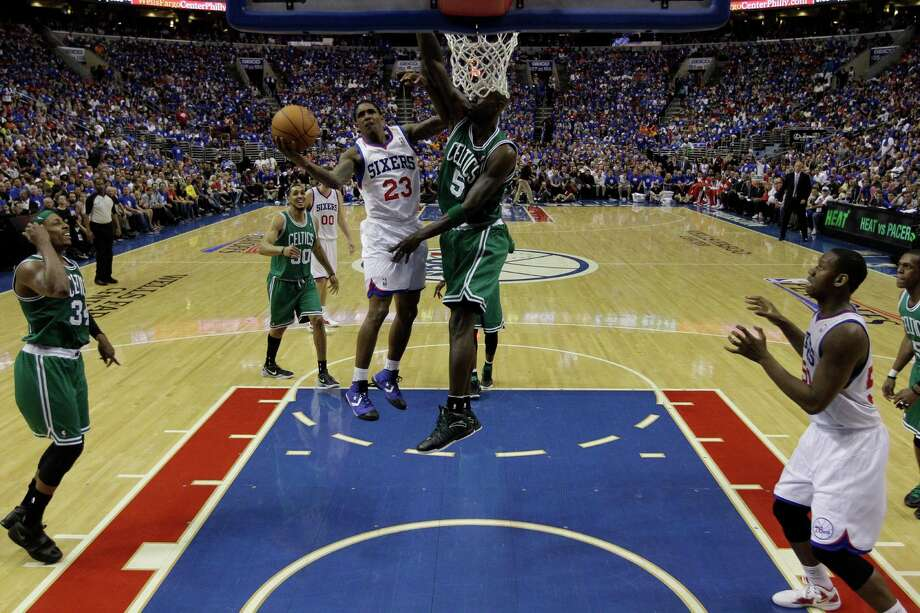 Philadelphia 76ers' Lou Williams during Game 6 of an NBA basketball Eastern Conference semifinal playoff series against the Boston Celtics, Wednesday, May 23, 2012, in Philadelphia. The 76ers won, forcing a final and deciding Game 7. (AP Photo/Matt Slocum) Photo: Matt Slocum, Associated Press / AP