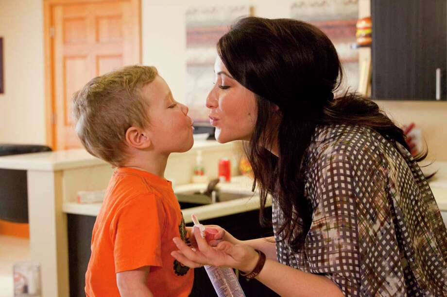 "This undated image released by Lifetime shows Bristol Palin, daughter of former Republican vice presidential candidate and Alaska Gov. Sarah Palin, and her son Tripp, during the filming of her series, ""Bristol Palin: Life's A Tripp,"" premiering Tuesday, June 19, at 10p.m. on Lifetime. Photo: AP"