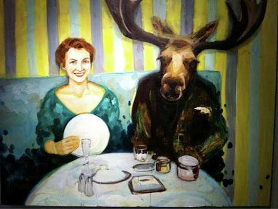"Elizabeth McDonald's ""Dinner Moose"" is featured in ""San Antonio Painters"" at Blue Star Contemporary Art Center. Photo: Courtesy Of The Artist"
